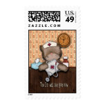 Doctor Will See You Now Cute Nurse or Vet Stamp
