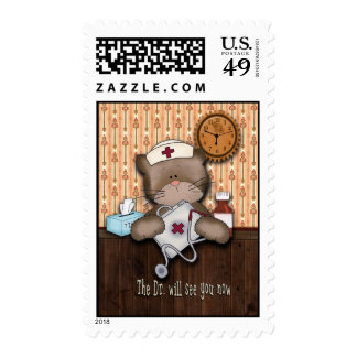 Doctor Will See You Now Cute Nurse Postage Stamp