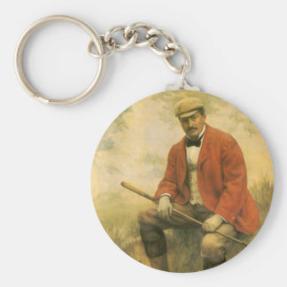 Doctor William Laidlaw Purves, Portrait by Collier Basic Round Button Keychain
