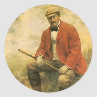 Doctor William Laidlaw Purves, Portrait by Collier Classic Round Sticker