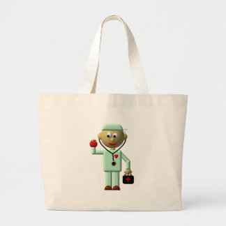Doctor with Apple and Medical Bag