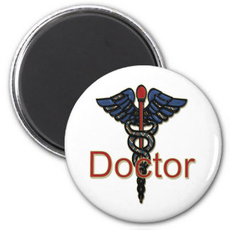 Doctor with Caduceus 2 Inch Round Magnet