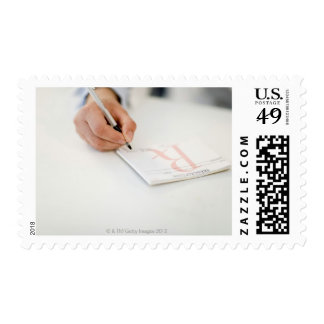 Doctor writing prescription stamp