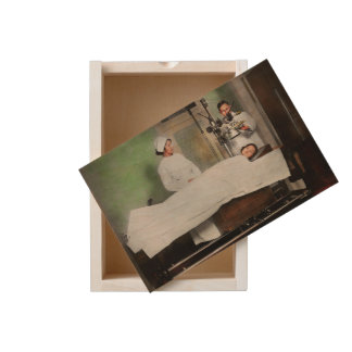 Doctor - Xray - Getting my head examined 1920 Wooden Keepsake Box