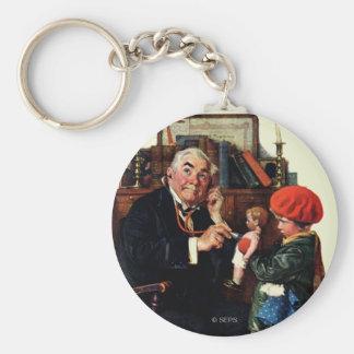 Doctor y la muñeca llavero redondo tipo pin