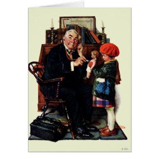 Doctor y la muñeca tarjeta de felicitación