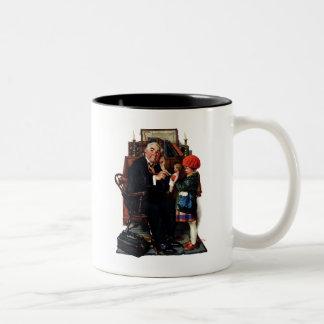 Doctor y la muñeca taza de café de dos colores
