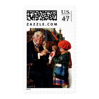 Doctor y la muñeca timbres postales