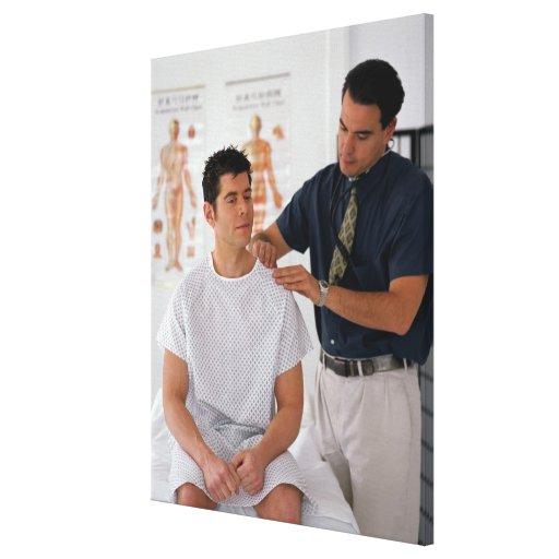 Doctor y paciente impresiones de lienzo