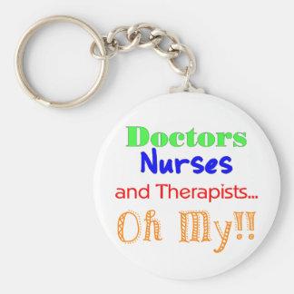 Doctores, enfermeras, y terapeutas llavero