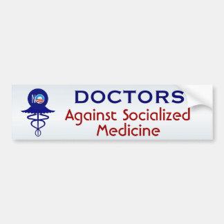 Doctores medicina socializada Against Pegatina Para Auto