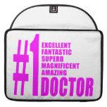 Doctores modernos rosados: Doctor del número uno Fundas Macbook Pro