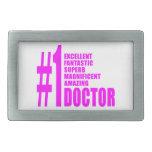 Doctores modernos rosados: Doctor del número uno Hebilla Cinturón Rectangular