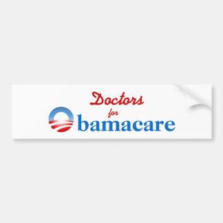 Doctores para Obamacare Pegatina Para Auto