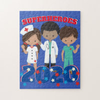 Doctors and Nurses are Superheroes | Thanks You Jigsaw Puzzle