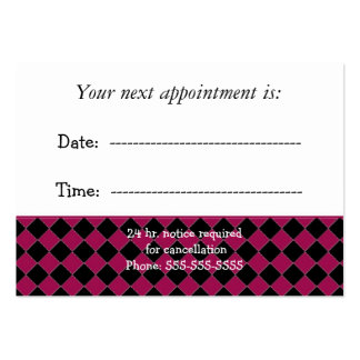 Doctors Appointment Large Business Card