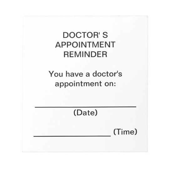 doctor u0026 39 s appointment reminder notes
