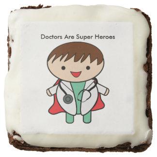 Doctors Are Super Heroes Chocolate Brownie