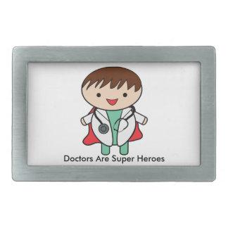 Doctors Are Super Heroes Rectangular Belt Buckle