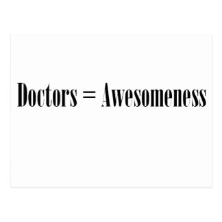 Doctors Awesomeness Post Card