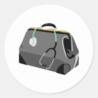 Doctors Bag Classic Round Sticker