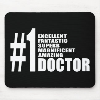 Doctors Birthdays Gifts : Number One Doctor Mousepad