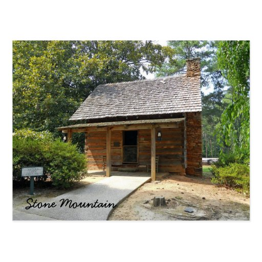 Doctor's Cabin Antebellum Plantation Stone Mount Postcard