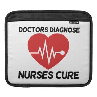 Doctors Diagnose Nurse Cure iPad Sleeve