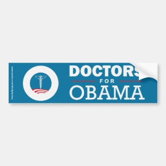 Doctors for Obama Car Bumper Sticker
