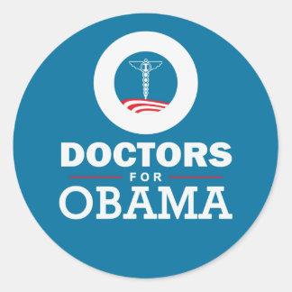 Doctors for Obama Classic Round Sticker