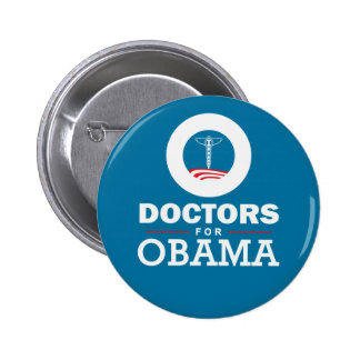 Doctors for Obama Pinback Button