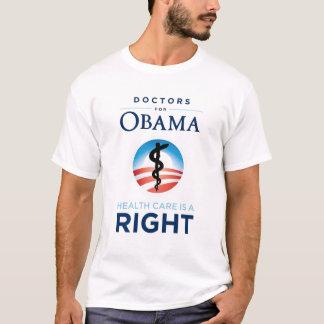 Doctors for Obama - White T-Shirt