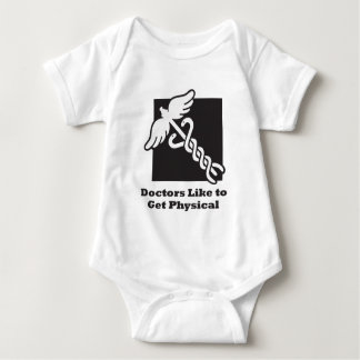 Doctors Like to Get Physical Baby Bodysuit