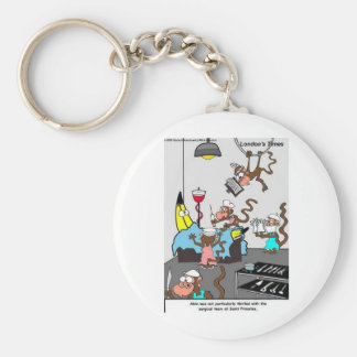 Doctors Monkeying Around Funny Gifts & Tees Basic Round Button Keychain