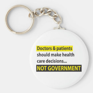 Doctors Not Government Basic Round Button Keychain