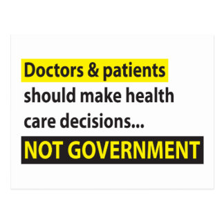 Doctors Not Government Postcard