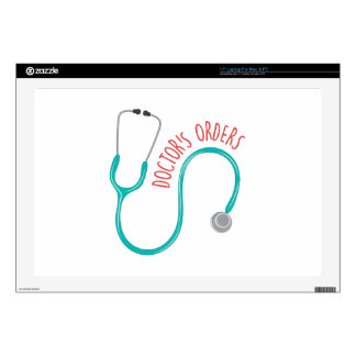 """Doctors Orders Decal For 17"""" Laptop"""