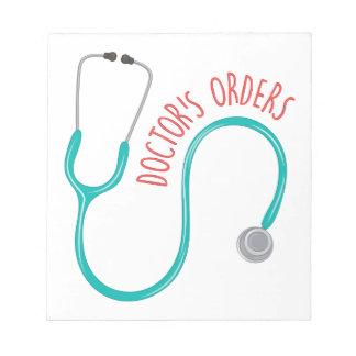 Doctors Orders Notepad