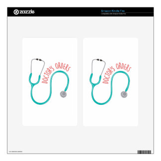 Doctors Orders Skins For Kindle Fire