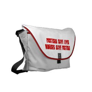 Doctors Save Lives - Nurses Save Doctors Messenger Messenger Bag