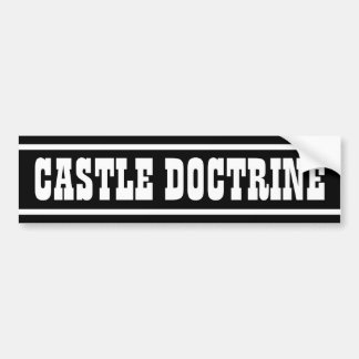 Doctrina del castillo pegatina para auto