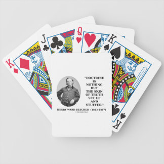 Doctrine Nothing But Skin Of Truth Set Up Stuffed Bicycle Playing Cards