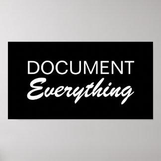 Document Everything - SRF Poster