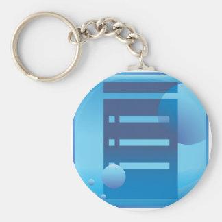 Document List Blue Button Icon Basic Round Button Keychain