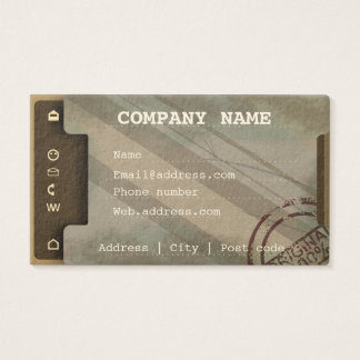 Document tray imitation business card