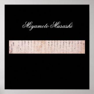 Document written by Miyamoto Musashi, c. 1600's Print