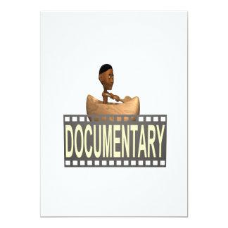 Documental tribal invitación 12,7 x 17,8 cm