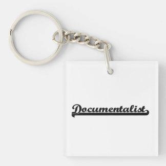Documentalist Classic Job Design Single-Sided Square Acrylic Keychain