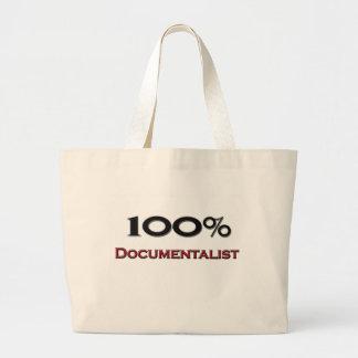 Documentalista del 100 por ciento bolsa tela grande