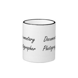 Documentary Photographer Artistic Job Design Ringer Coffee Mug